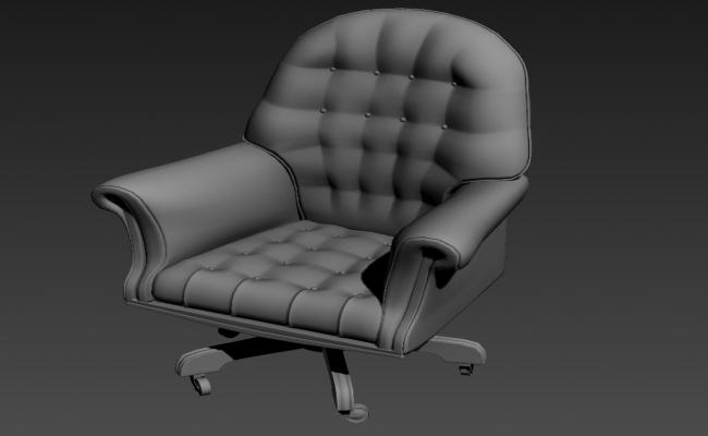 Movable Office Chair Design 3ds Max file