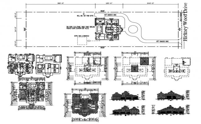 Multi Family House Project AutoCAD File