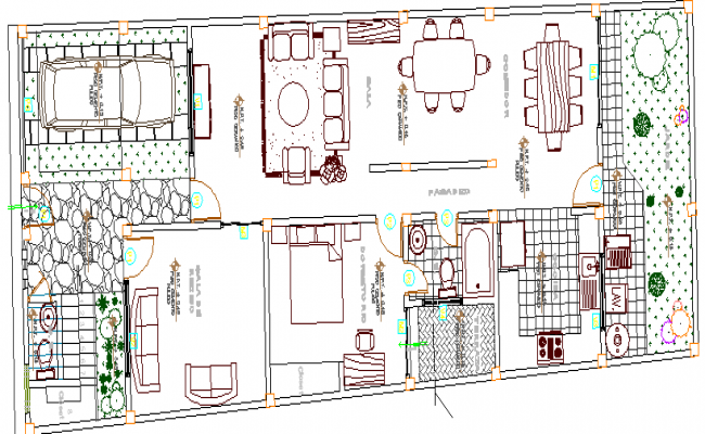 Multi-Family Housing Residency Design and Structure Details dwg file