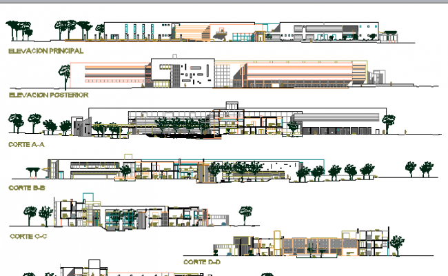 Multi-Flooring City Hospital Architecture Project dwg file