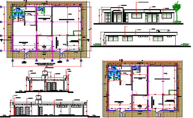 Multi-Flooring Corporate Building Architecture Project dwg file