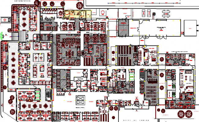 Multi-Flooring General Hospital Project dwg file