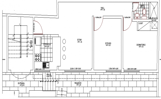 Multi-Flooring House Design and Structure Details dwg file