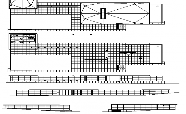 Multi-Flooring Pavilion Architecture Project dwg file