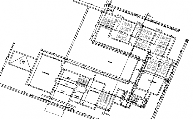 Multi-Flooring School Architecture Layout dwg file
