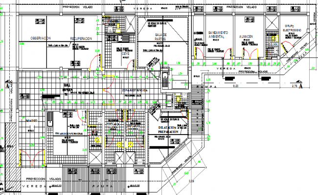 Multi Specialty Hospital Architecture Plan and Design dwg file