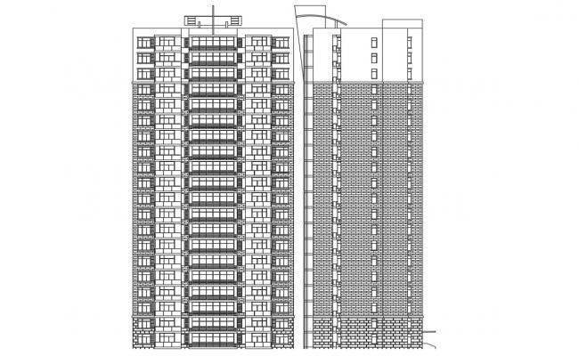 Multi Storey Apartment Building Elevation Design