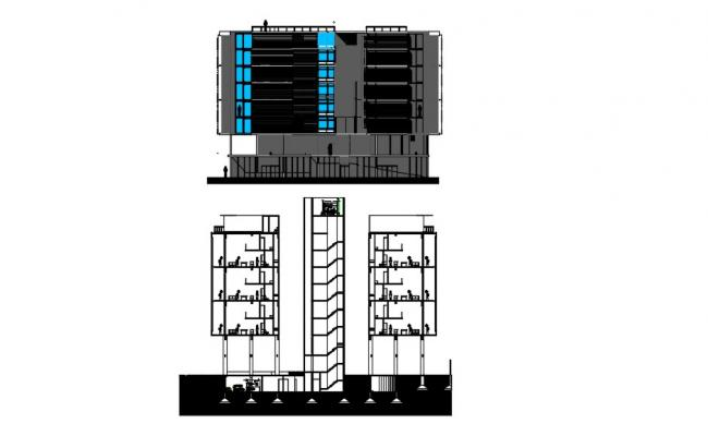 Multi Storey Building Drawing In AutoCAD File