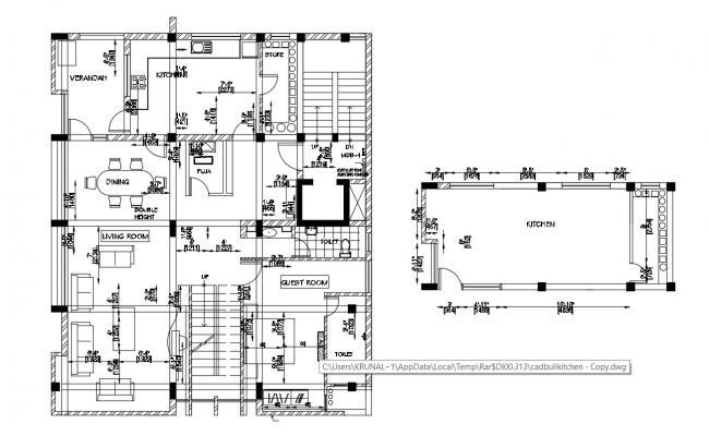 Multi Storey House Design Free DWG File