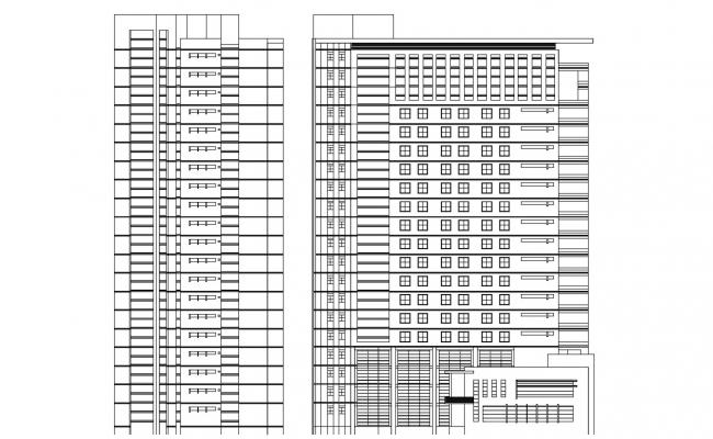 Multi-Storey Residential Apartment AutoCAD Drawing