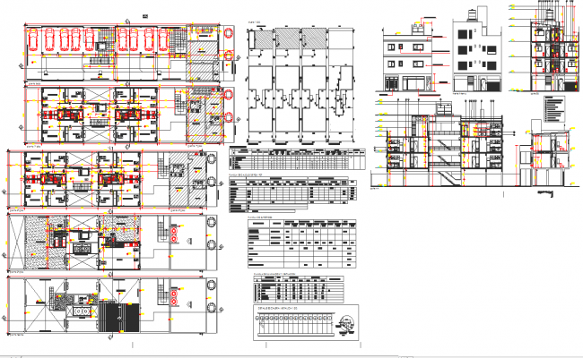 Multi family apartment architecture planning and detail