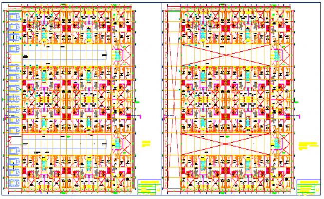 Multi family building project-housing in blocks design