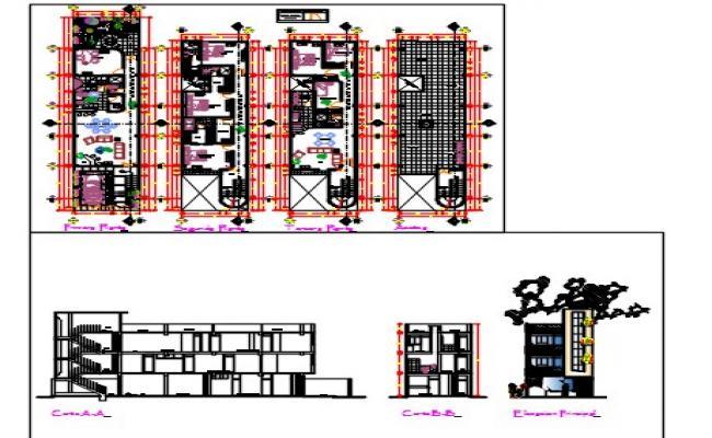 Multi family housing.dwg file