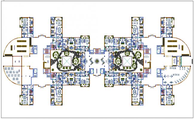 Multi family plan design for home