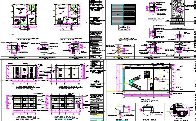 Multi-flooring corporate office architecture project dwg file