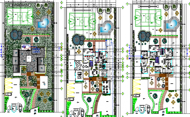 Multi-flooring education building floor plan details dwg file