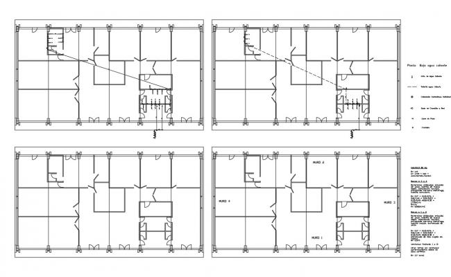 Multi-flooring school architecture project details dwg file