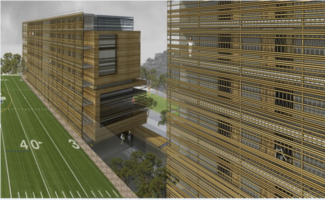 Multi-level shopping mall 3d design details dwg file