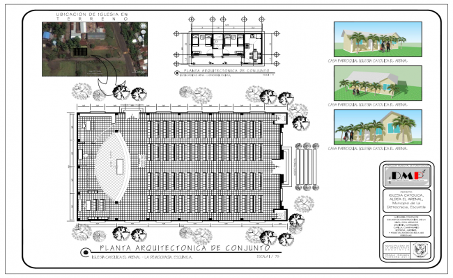 Multi Purpose Church Building Plans PDF Design