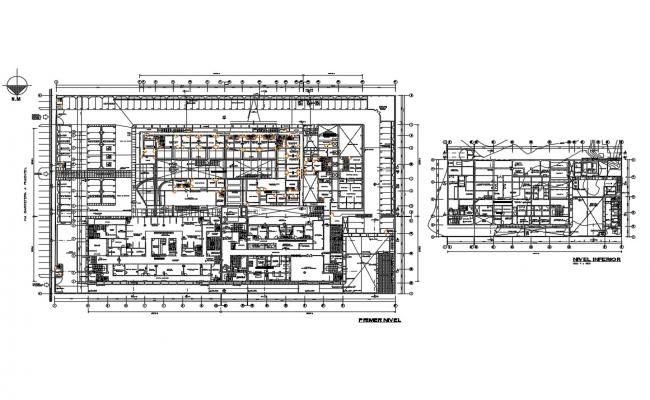 Multi-specialist hospital building floor plan cad drawing details dwg file