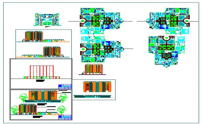 Multi specialist modern hospital design drawing