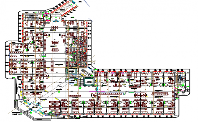 Multi-specialty hospital architecture layout plan details dwg file