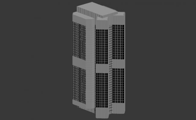 Multi-storey Office Building 3d max file