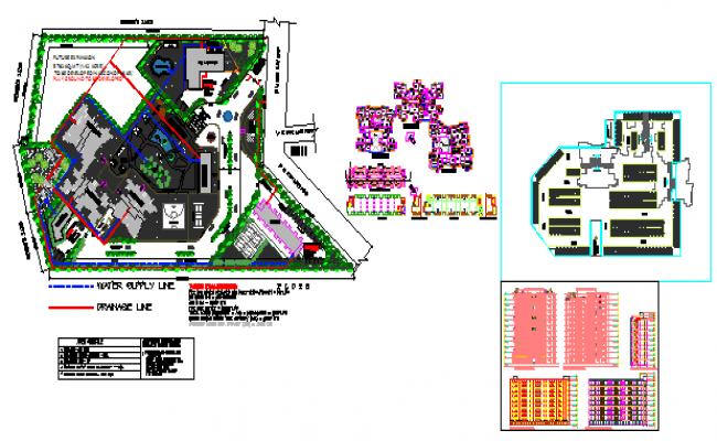 Multi storey housing design drawing