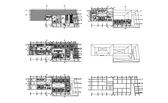 Multi-story luxuries hotel floor plan cad drawing details dwg file