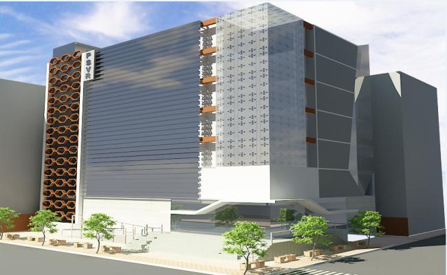 Multi story office building 3d design details dwg file