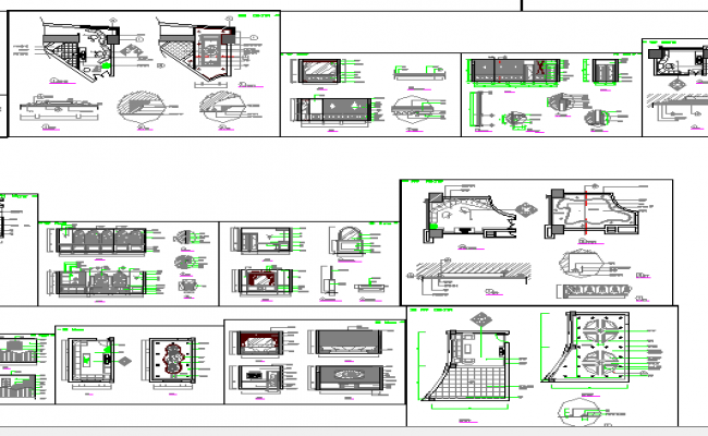 Multi-story office building auto-cad details dwg file
