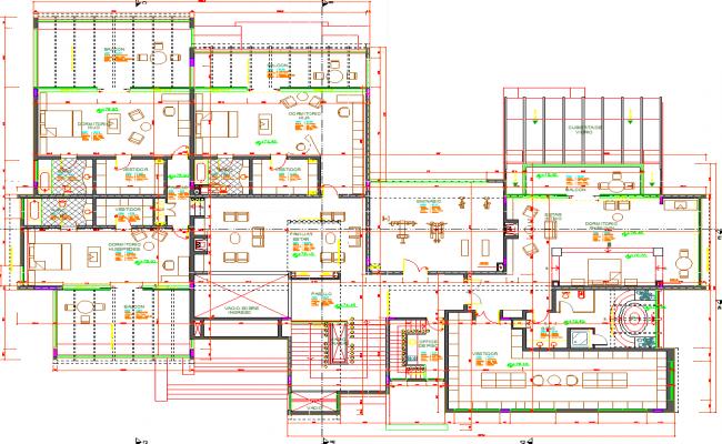 Multifamily Residence Plan dwg file