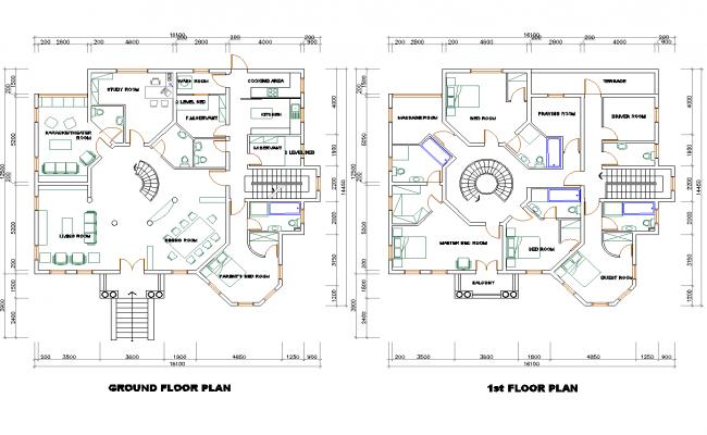 Multifamily Residence layout plan