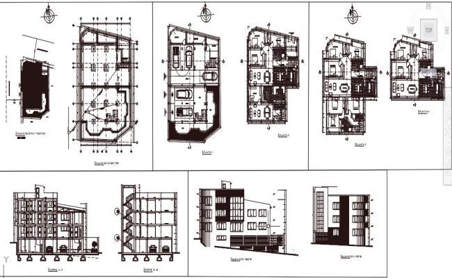 Multifamily building layout plan.