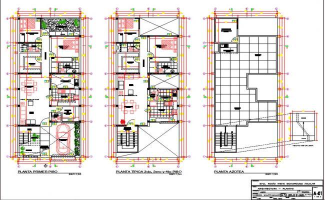Multifamily housing plan view.