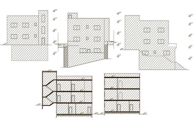 Multifamily Apartment Building Design AutoCAD File
