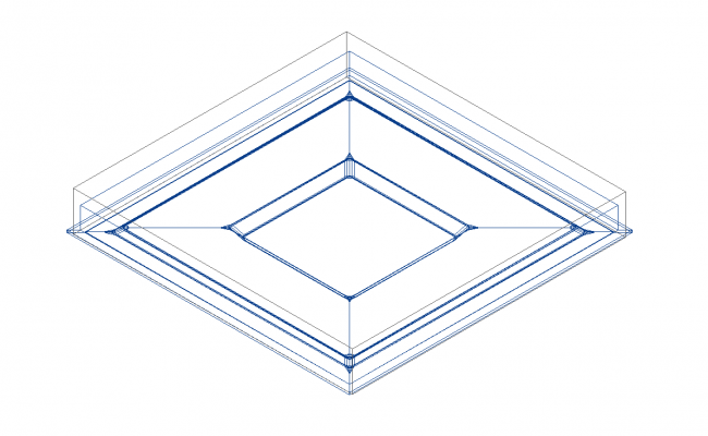 Multilevel_Clarice_down electrical 3d wire frame view dwg file