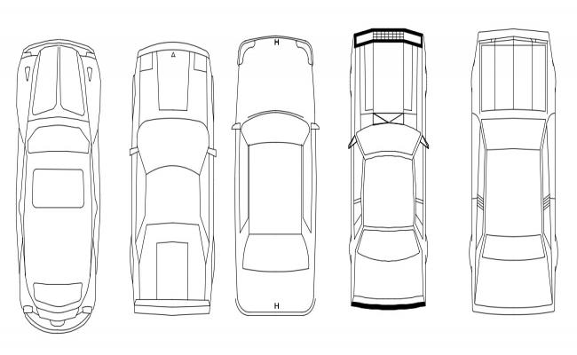 Multiple Car Vehicle Blocks Elevation Design 2d AutoCAD drawing Free Download