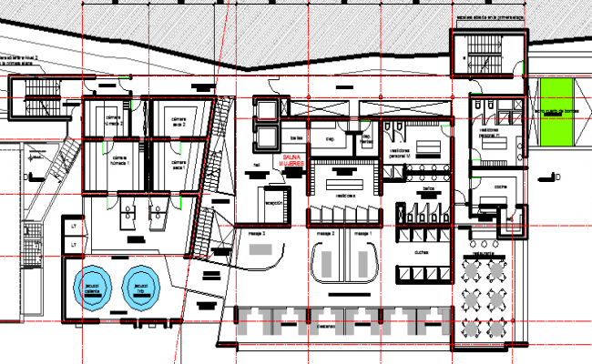 Multiple Services Corporate Building Elevation dwg file