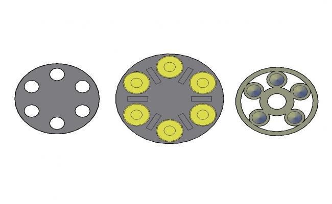 Multiple magnum wheel 3d blocks cad drawing details dwg file