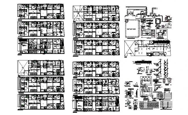 Multiple residential housing building floor plan and