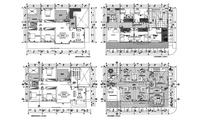 Multipurpose Building Design In DWG File