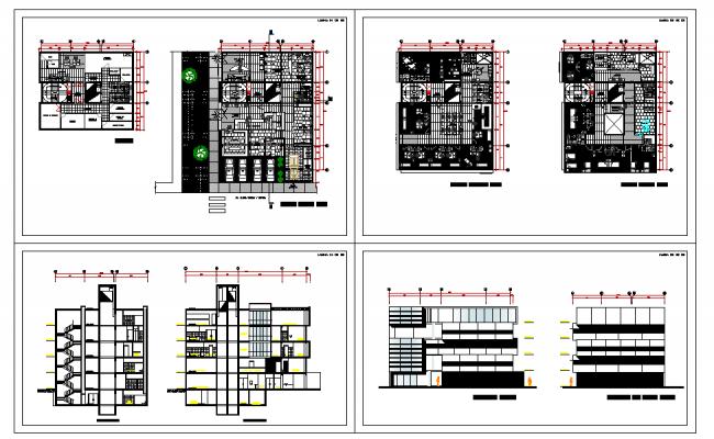 Multipurpose hospital building plans drawings