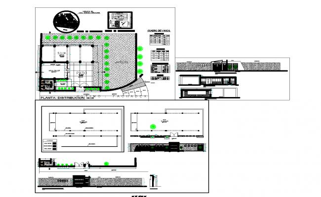 Multipurpose store plan detail dwg file.