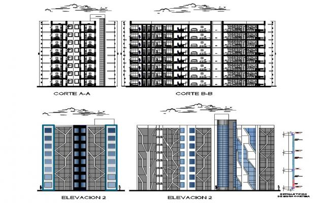 Multistory Building Drawing