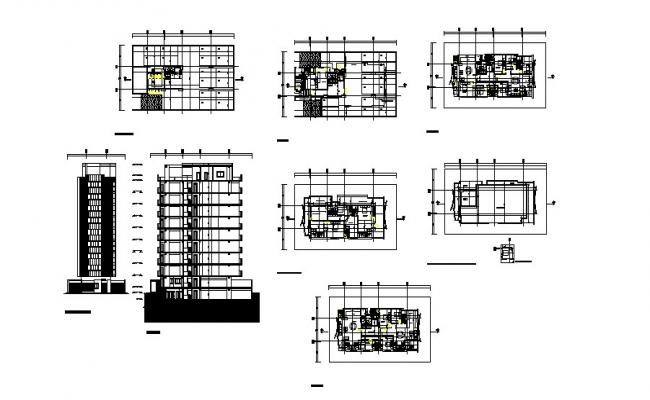 Residential Building Section In DWG File