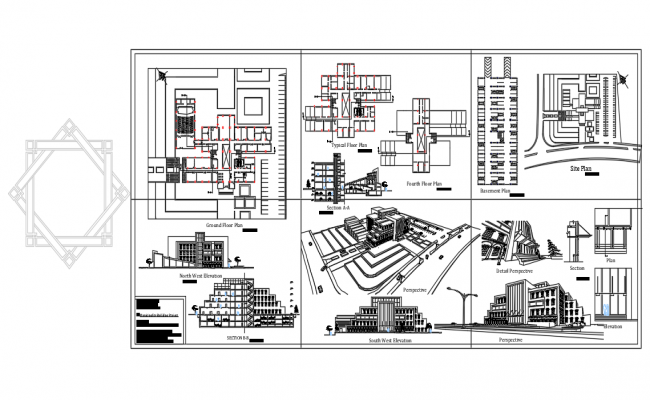 Multi Storey Building Plan In AutoCAD File