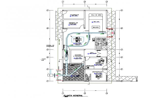 Municipality halter plan detail dwg file