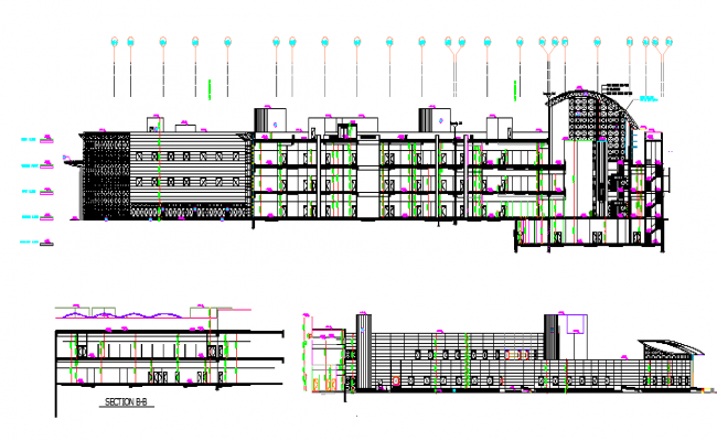 Museum Architecture Plan dwg file