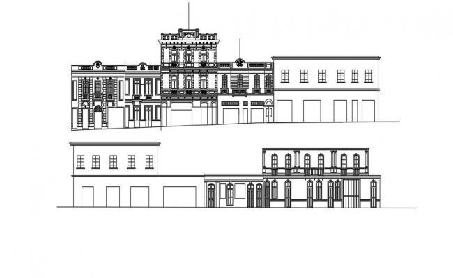 Museum Elevation In DWG File
